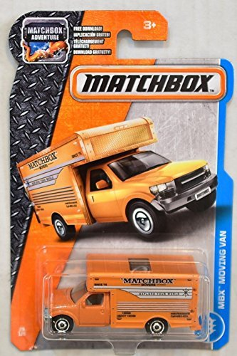 Matchbox 2017 MBX Adventure City Moving Van 28/125, Orange