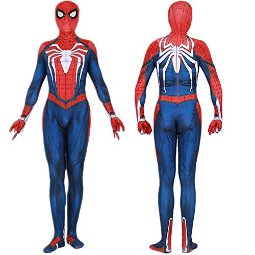 Price comparison product image PS4 Spiderman Homecoming Jumpsuit Costume for Kids/Adults Zentai Halloween Cosplay (Kid L)