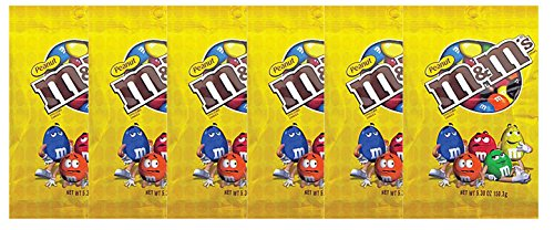 M&M's Peanut Milk Chocolate Candy Peg Bag, 5.3 Ounce (Pack of 6) by M&M's