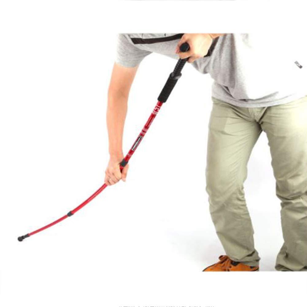 LGFV-Bastones de Senderismo Bastones de Trekking Ajustables de Aluminio Bast/ón Telesc/ópico Mango en T Deportes Y Productos para Exteriores