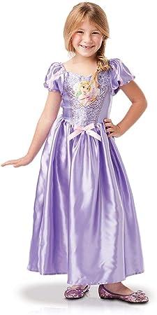 Princesas Disney - Disfraz de Rapunzel con lentejuelas para niña ...