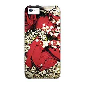 XiFu*MeiNew Red Flowers Cases Covers, Anti-scratch Bxm5648pNNm Phone Cases For iphone 4/4sXiFu*Mei