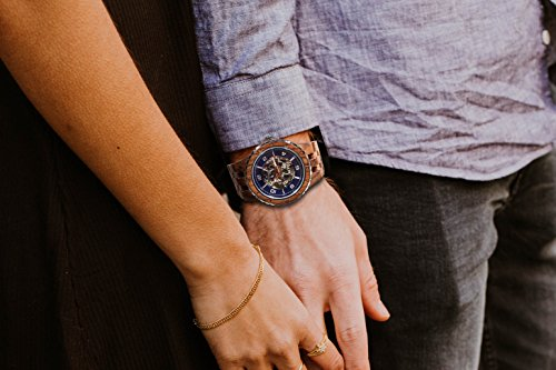 Wilds Wood Watches Premium Eco Self-Winding Wooden Wrist Watch For Men, Natural Durable Handcrafted Gift Idea for Him (Kosso) by Wilds (Image #3)