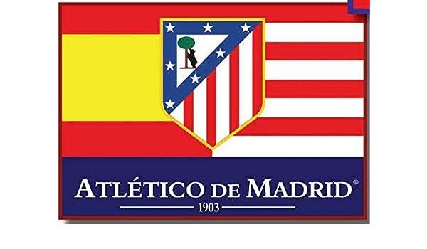 Bandera Atlético de Madrid España 100x150 cm: Amazon.es: Deportes ...