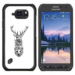 Stuss Case / Funda Carcasa protectora - Ciervo Lobo Oso - Samsung Galaxy S6Active Active G890A