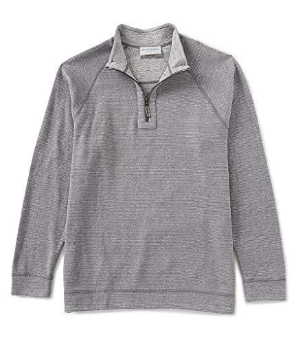Tommy Bahama On The Doubles Half Zip Sweatshirt (Color: Steel Wool Heather, Size -