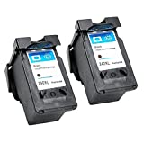 YDINK 2 Pack PG-240XL / PG-240 XL Black Shows Accurate Ink Level High-Yield Latest Version Ink Cartridge for Canon PIXMA Printers