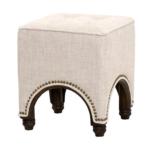 Orient Express Furniture Drake Square Footstool, Bisque by Orient Express Furniture