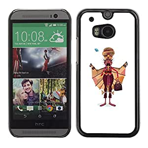 Shell-Star Arte & diseño plástico duro Fundas Cover Cubre Hard Case Cover para HTC One M8 ( Sikh Man Art Drawing India Sikhism Attire )