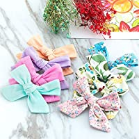 16PCS Christmas Bow Hair Clip Alligater Clips Girls Ribbon kids Accessories UK