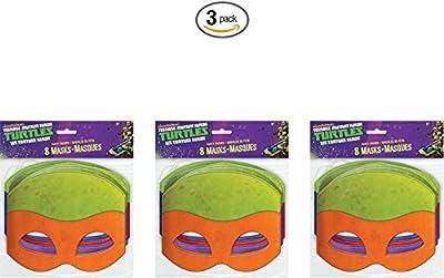 Teenage Mutant Ninja Turtles Masks, 8 Count