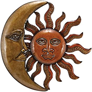 Superior Benzara Metal Sun Moon Wall Decor Discounted Wall Art