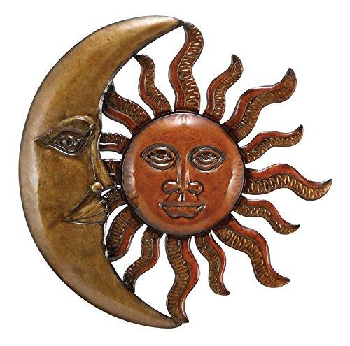 Benzara Metal Sun Moon Wall Decor Discounted Wall Art (Sun Moon Decor)