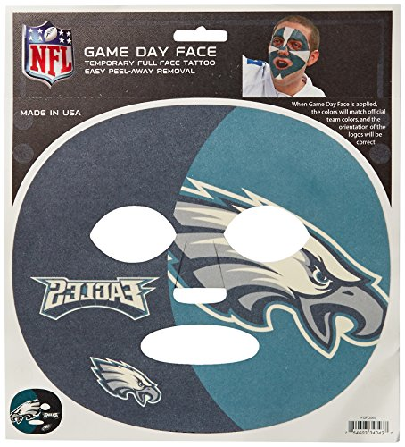Eagle Temporary Tattoo (NFL Philadelphia Eagles Game Day Face Temporary Tattoo)