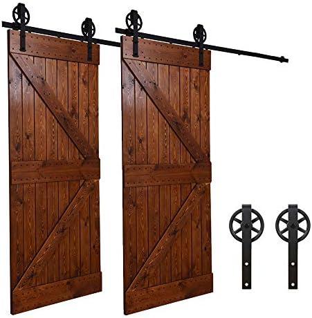 243CM/8FT puertas acero puerta corrediza de granero Hardware ...