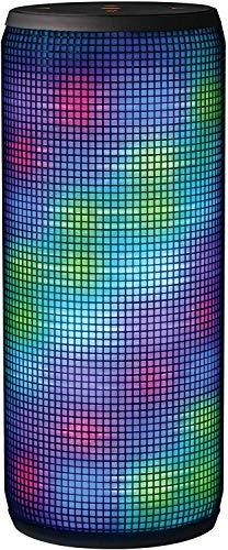 Trust Urban Dixxo – Altavoz Portátil de 20 W para Dispositivos con Bluetooth (con Iluminación de Colores), Negro…