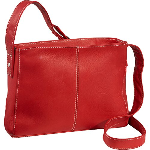 Bag Donne Crossbody Red Top Leather Le Zip 6qB18xTCw1