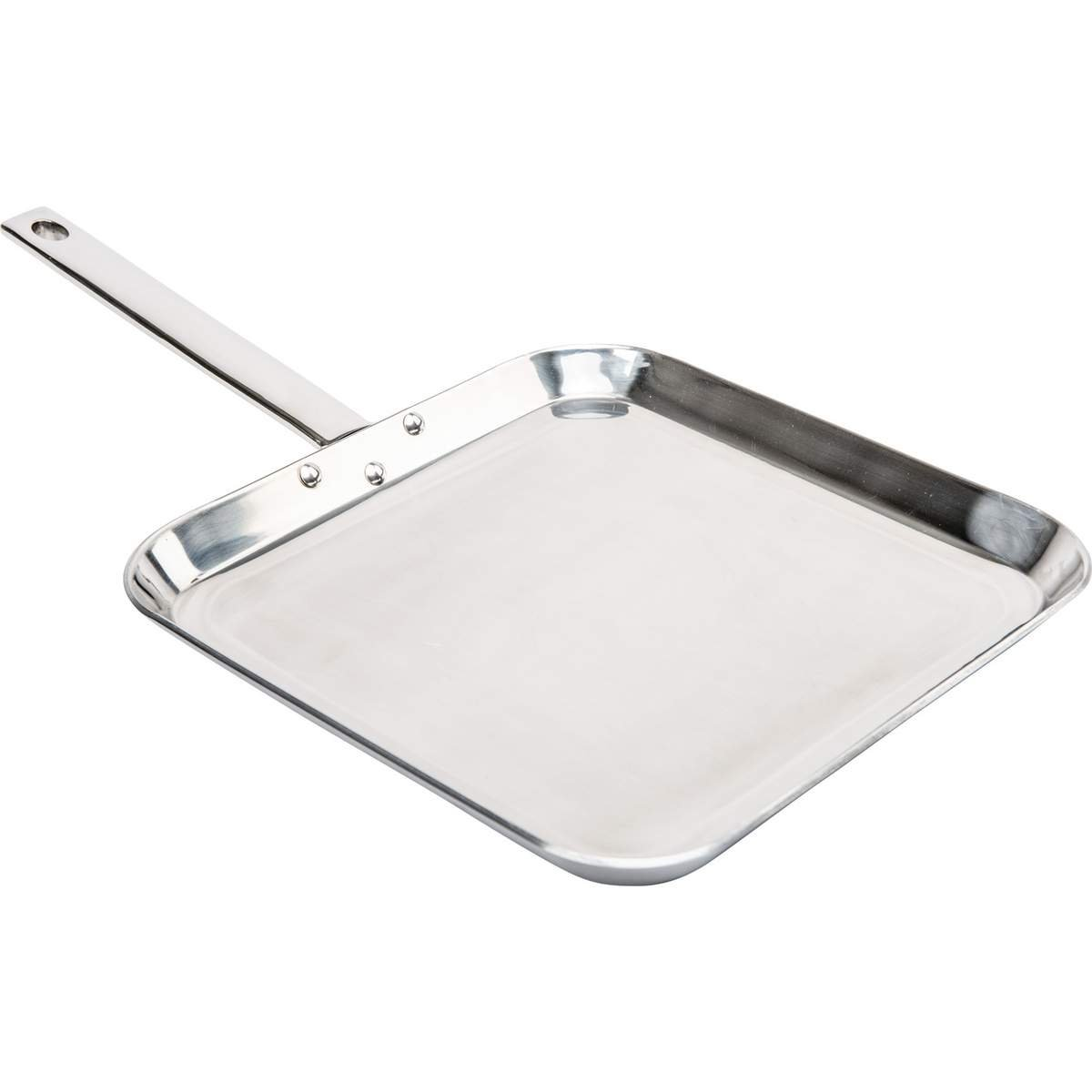 Chef's Secret by Maxam 11'' T304 Stainless Steel Square Griddle. by CHEFS