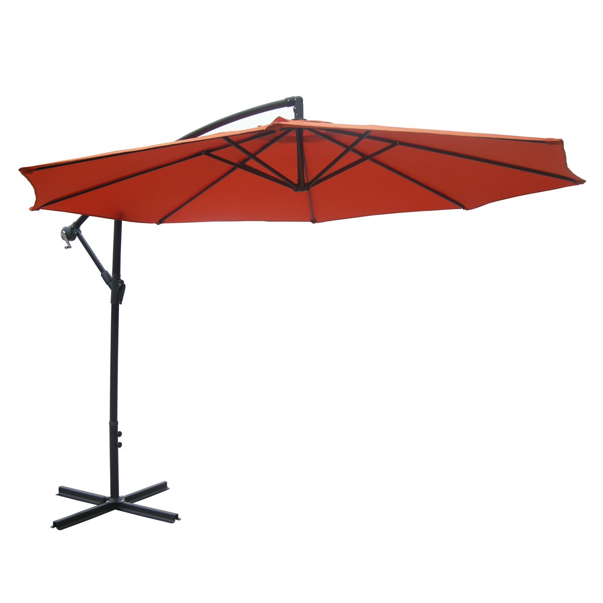 Amazon.com : Zest Avenue 10 Ft Orange Aluminum Patio Offset Umbrella :  Garden U0026 Outdoor