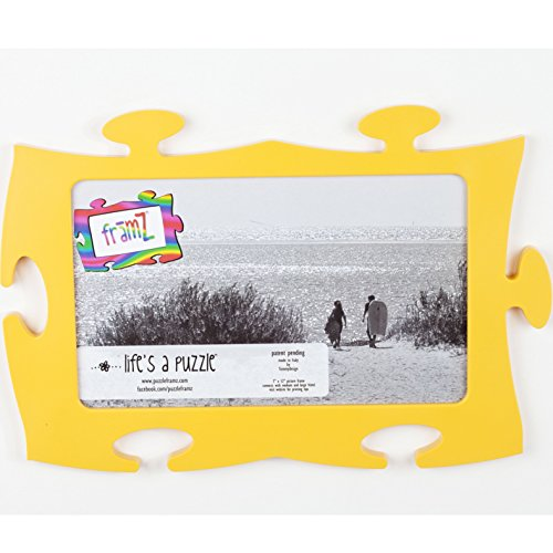Yellow Puzzle Piece Shaped Wall Frames Large 1175 X 7 Inch Buy