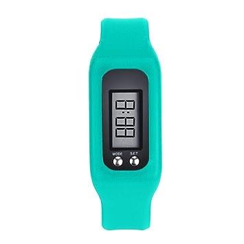 Ser una Chica Exquisita Reloj Digital Caliente, podómetro LCD Digital Run Step Walking Counter Reloj Pulsera Hombres Reloj (Color : Sky Blue): Amazon.es: ...