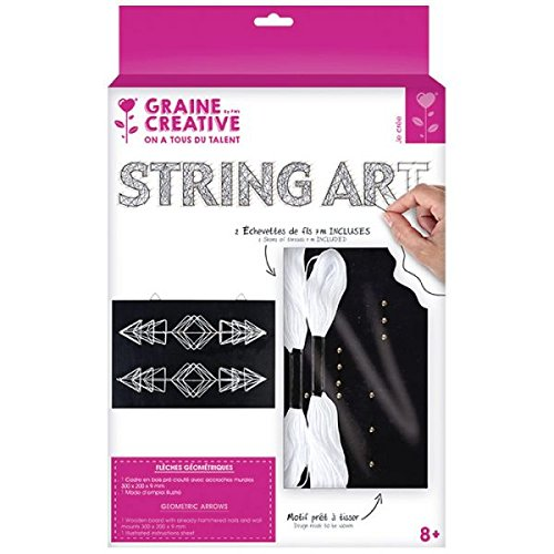 c9af80b2c Cuadro negro de madera String Art - Flechas 22 x 22 cm: Amazon.es: Hogar