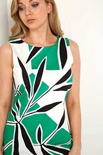 Originals Senza linea Vestito a Floreale Emerald ad U Collo Donna maniche Roman a O4qwpdz4