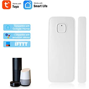 Festnight WiFi Sensor de la Puerta Tuya App Control Puerta de la Ventana de Apertura Seguridad