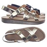 Bamboo Gladiator Criss Cross Comfort Soft Foam Footbed Flat Sandal