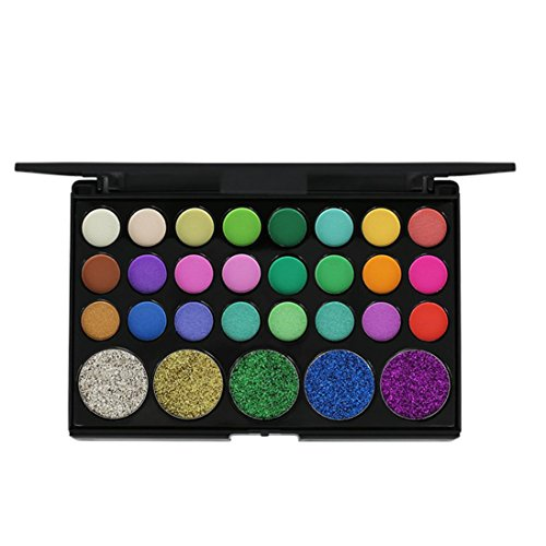 Eyeshadow Palette,Lavany 29 Colors Matte Eye Shadow Powder Palette in Shimmer Glitter Eyeshadow Palette,Face Lips Art Makeup tools for Party (A)