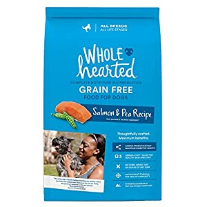 WholeHearted Grain Free All Life Stages Salmon and Pea Recipe Dry Dog Food, 14 lbs.
