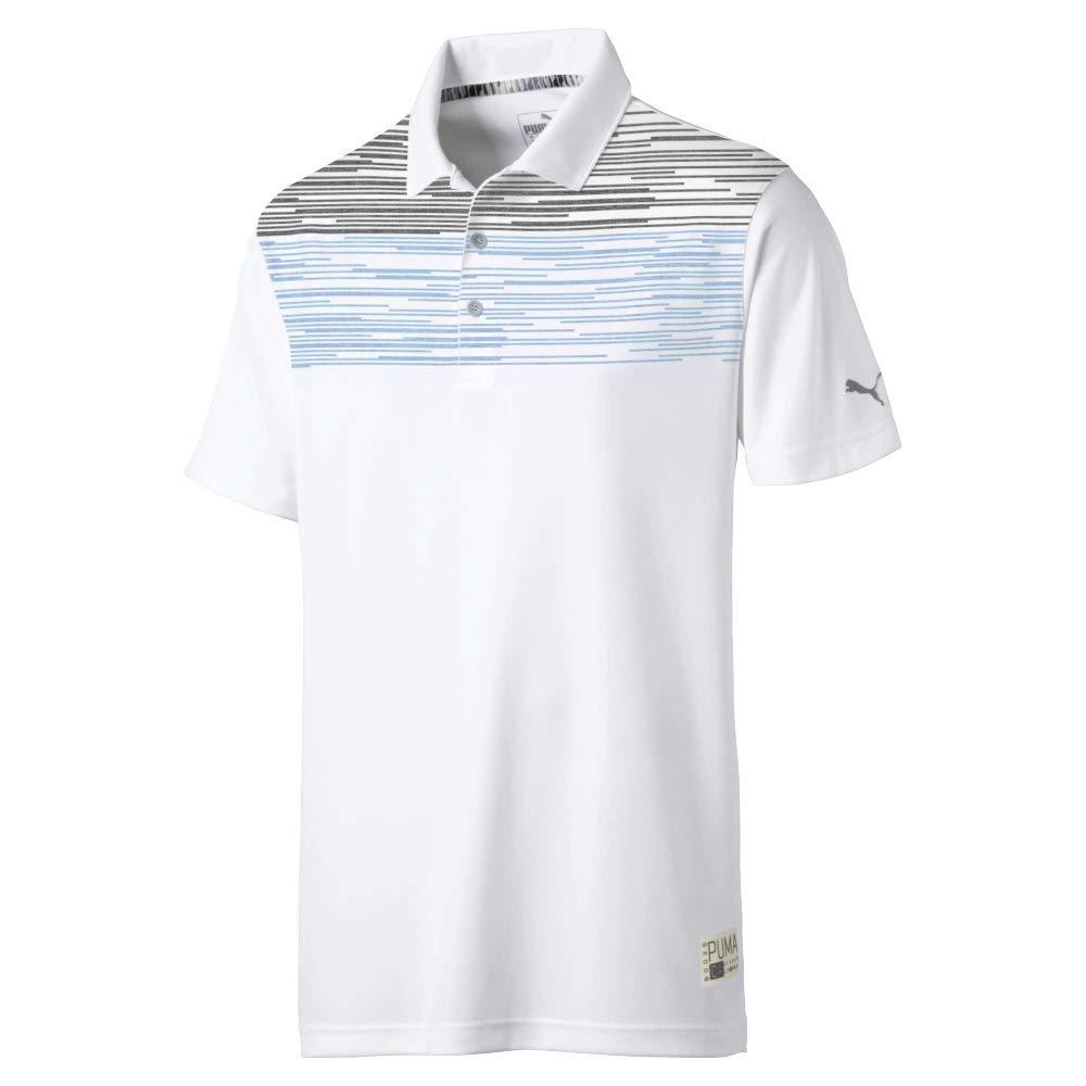 Puma Golf Men's 2019 Pin High Polo, Bleu Azure, Small