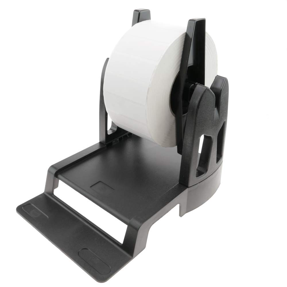 BeMatik Supporto Universale Rotoli Bobina de Etichette per Stampante Termica Nero