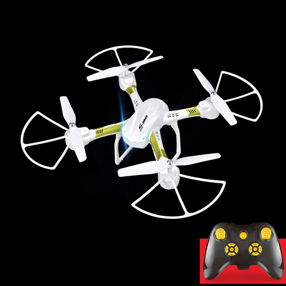 ELVVT Hochwertige Fernbedienung HD Drohne Weißwinkel HD 2.0MP Quadcopter Flugzeuge One-Touch-Landung Start WiFi-Übertragung Rc Hubschrauber Spielzeug Geburtstag Kinder und Erwachsen No camera Weiß One battery