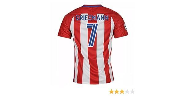 Nike 2016-2017 - Camiseta local del Atlético de Madrid para niños, Griezmann 7: Amazon.es: Deportes y aire libre
