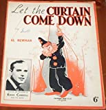 Let The Curtain Come Down Eddie Carroll and his Band 1940 Sheet Music Film Jazz Pop Swing Large Sheet Music 12' x 10' Piano Vocal Guitar