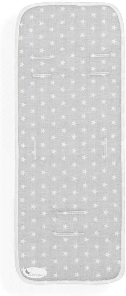 Colchoneta Silla de Paseo Universal Transpirable Estrellas Gris ...
