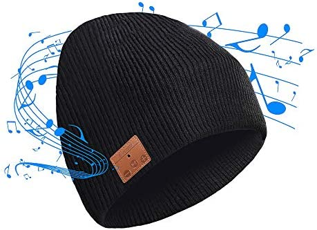 CyanCloud Bluetooth Beanie 5.0 Wireless Smart Hat Headphones Headset Knit Cap, Siri Voice Control, Built-in HD Stereo Microphone Speakers