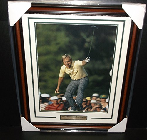 JACK NICKLAUS 1986 MASTERS CHAMPION 16X20 PHOTO FRAMED Jack Nicklaus 1986 Masters