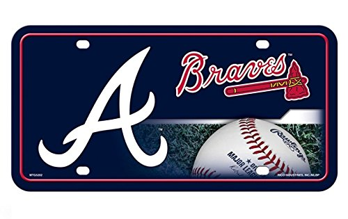 Rico Industries Atlanta Braves A Logo Metal License Plate
