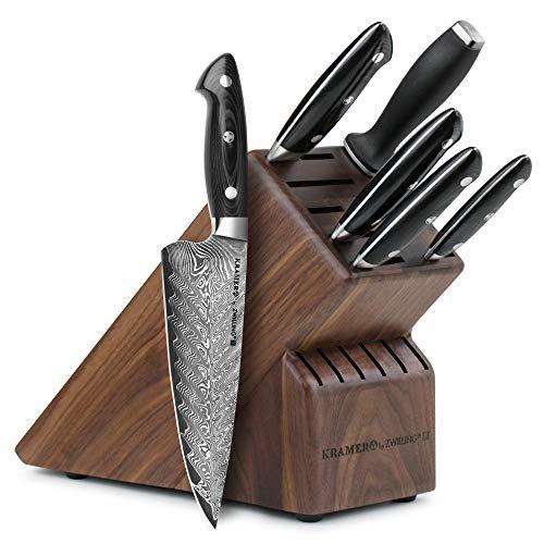 - Kramer Euroline Stainless Damascus Collection 7 Piece Knife Block Set