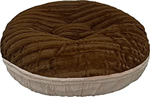 BESSIE AND BARNIE 24-Inch Bagel Bed for Pets, X-Small, Godiva Brown/Natural Beauty best