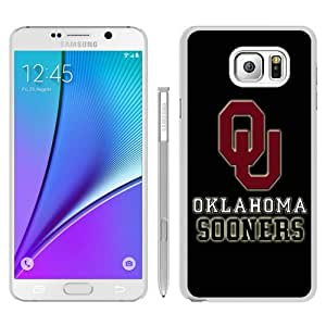 NCAA Big 12 Conference Big12 Football Oklahoma Sooners 3 White Recommended Picture Custom Samsung Galaxy Note 5 Case