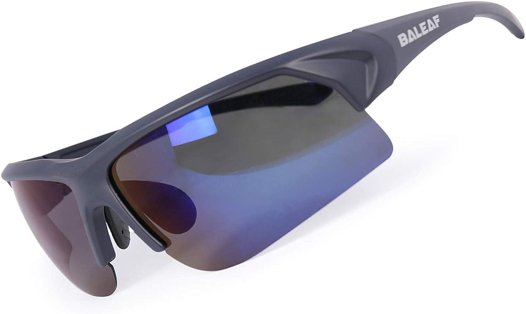 Amazon.com: BALEAF Superlight Polarized Sports Sunglasses Tr90 Cycling Bike  Eyewear with Adjustable Nose Piece for Men Women Blue Revo: Clothing