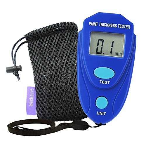 GainExpress Mini Digital Coating Paint Thickness Gauge Meter Tester Car Painting Coat with Pouch