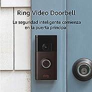 Ring Video Doorbell con Video HD, Alertas activadas con sensor de movimiento, Fácil de Instalarm – Negro-bronc