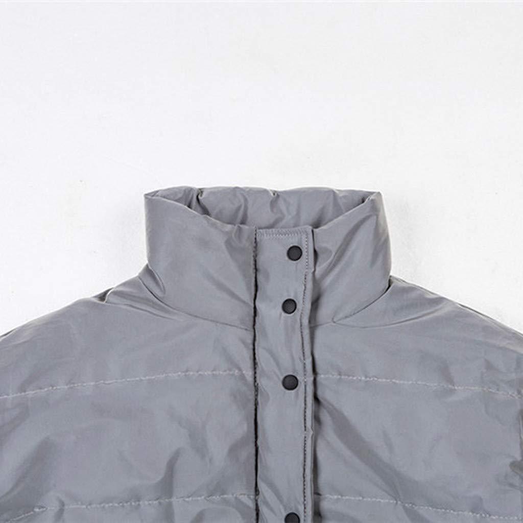 Holywin Oberbekleidung Reflektierend Kurz Behalten Warm Beil/äufig Mantel Tops Damen Jacken