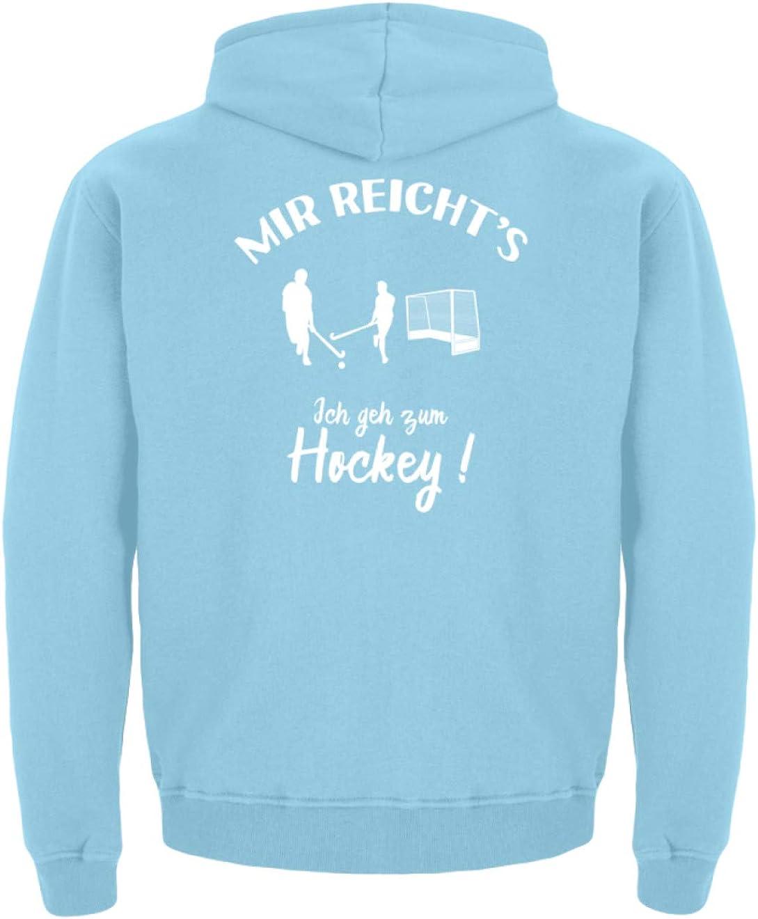 shirt-o-magic Hockeyspieler Kinder Hoodie Ich GEH zum Hockey!