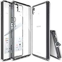 Xperia Z5 Case, Ringke FUSION [SMOKE BLACK]** Shock Absorption TPU Bumper Drop Protection **[FREE HD Screen Protector] Premium Crystal Clear Hard Back [Anti-Static][Scratch Resistant] for Sony Xperia Z5