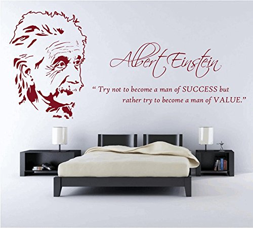 DreamKraft The Legend Albert Einstein Wall Decor Art Stickers Vinyl Decals Home Decor for Living Room & Kids bedroom (52X26 Inch) by DreamKraft